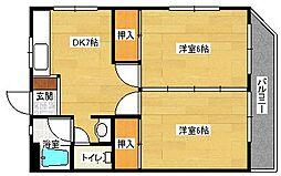 新原第3マンション[202号室]の間取り