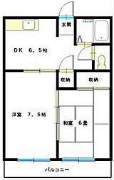マンション築山第5[202号室]の間取り