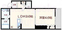 WOOD HOUSE EAST[1階]の間取り