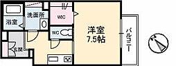 広島高速交通アストラムライン 祇園新橋北駅 徒歩5分の賃貸アパート 2階1Kの間取り