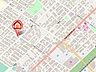地図,2LDK,面積59.4m2,賃料5.2万円,JR函館本線 野幌駅 徒歩13分,バス 中央バス2番通7丁目下車 徒歩2分,北海道江別市野幌代々木町