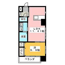 EXE ITAYAMACHI[9階]の間取り