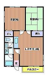 石川ベルメゾンB棟[1階]の間取り