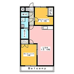 ガーデンサイト15[3階]の間取り