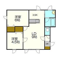 マンションOKUMURA[2階]の間取り