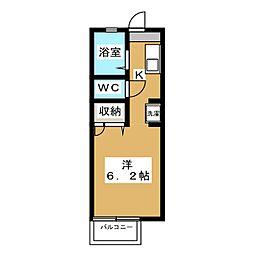 ディアスグリーンホンマチ[2階]の間取り