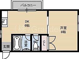 ラウンド2大儀[3階]の間取り