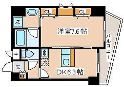 兵庫県神戸市中央区海岸通2丁目の賃貸マンションの間取り