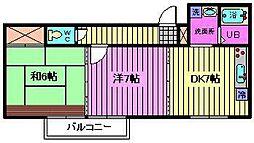 埼玉県さいたま市中央区下落合3丁目の賃貸アパートの間取り
