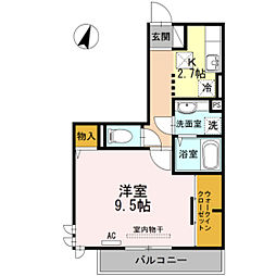 ラクト鶴江[2階]の間取り