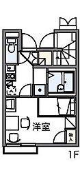 東京都八王子市左入町の賃貸アパートの間取り