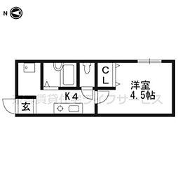 阪急アパート[3F14号室]の間取り
