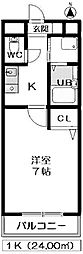 セントラルハイツ東別院[201号室]の間取り