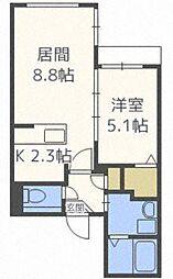ミカーサ13[5階]の間取り