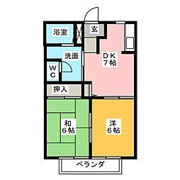 コーポYS−5[2階]の間取り