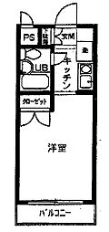 リッチマウント[203号室]の間取り