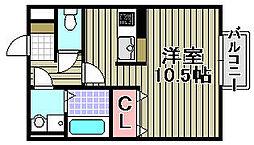 シェルズレイク日根野C[103号室]の間取り