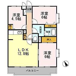D-room コンフォート鵠沼II[205号室]の間取り
