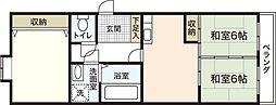 広島県広島市安佐南区長束6丁目の賃貸アパートの間取り