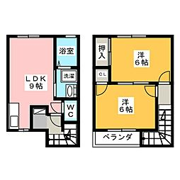 プレーヌ[1階]の間取り