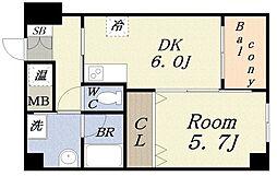 Peace Sakai[3階]の間取り