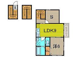 (仮称)SFA新築アパート[3階]の間取り