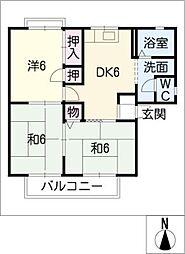 セジュール林 B棟[2階]の間取り