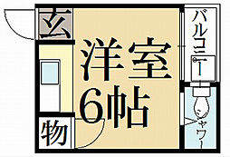 ハイツ松ヶ崎[1階]の間取り