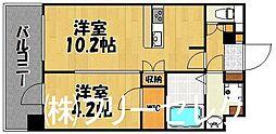 will Do中州[11階]の間取り