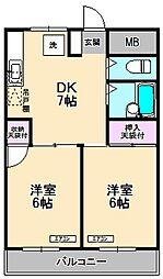 メゾン中沢[3階]の間取り