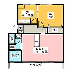 マンションATAGO[2階]の間取り