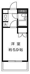 東京都大田区池上6丁目の賃貸マンションの間取り