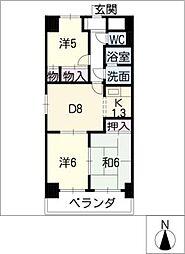マンション森[11階]の間取り