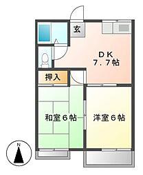 メゾン幸[2階]の間取り