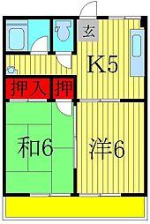 高野マンション[4階]の間取り