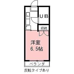安田学研会館 北・南棟[S606号室]の間取り