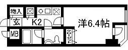 サンフローラ三条大宮[1階]の間取り