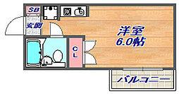 シンプルライフ王子公園[505号室]の間取り