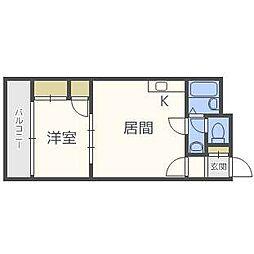 ロータスハイツ澄川[4階]の間取り