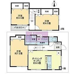 [一戸建] 神奈川県横浜市南区三春台 の賃貸【/】の間取り