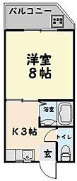 第3三恵ビル[201号室]の間取り
