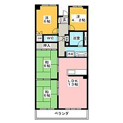 パストラルハイム三島 壱番館[3階]の間取り
