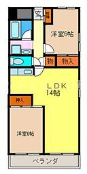 ハイツ阪本[3階]の間取り