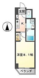 エーエイチマンション泉(AH[9階]の間取り