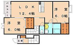センタ−フィ−ルド[2階]の間取り