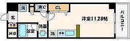 ラ・フォーレ東天満[8階]の間取り