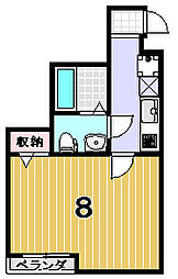 リエール円町[305号室]の間取り
