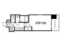 Osaka Metro堺筋線 天神橋筋六丁目駅 徒歩6分の賃貸マンション 5階1Kの間取り