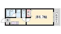 JR東海道・山陽本線 姫路駅 バス1分 西坂口下車 徒歩20分の賃貸アパート 1階1Kの間取り