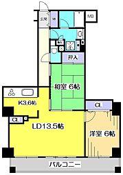 サンヴェール国分寺エスタシオン[8階]の間取り
